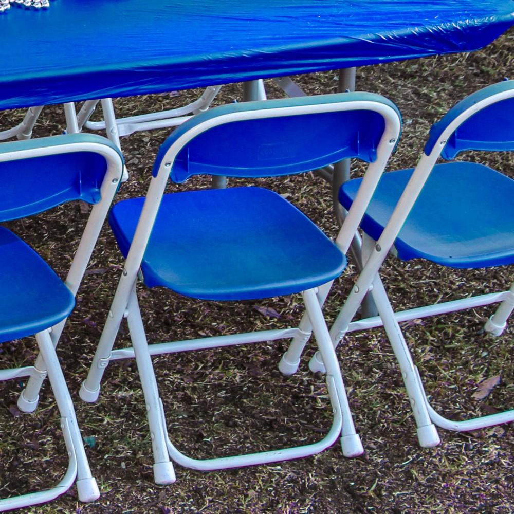 Children S Folding Chair Blue A1 Party Rental